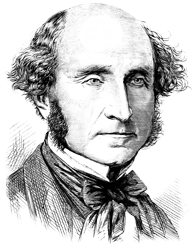 Woodcut picture of a critic of Charles Darwin
